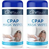 Care Touch CPAP Mask Cleaning Wipes - Unscented | 2 Packs of 70 Unscented Cleaning Wipes for CPAP Masks (140 Total…