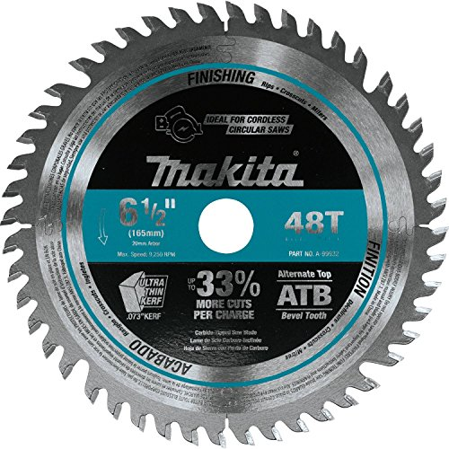 Makita A-99932 6-1/2 inch 48T Carbide-Tipped Cordless Plunge Saw Blade