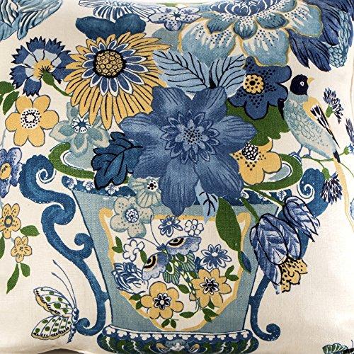 Designer pillow cover Schumacher Fabric ~ LANSDALE BOUQUET
