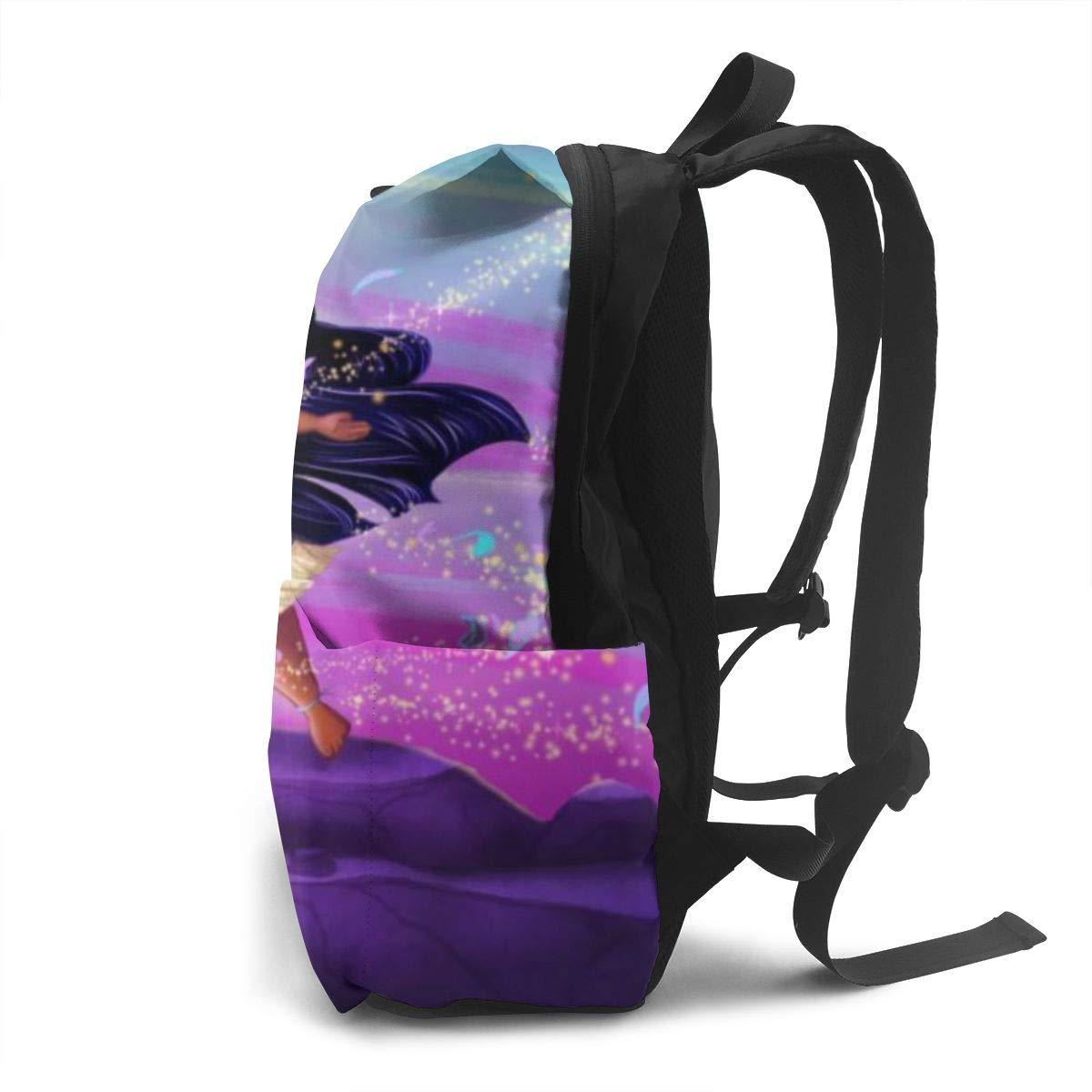 Large Popular Print Child Backpack Pocahontas Kids School Bag