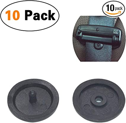 Auto Clips Car Fastener Clips 10PCS Car Auto Seat Belt Buckle Holder Stop Clips for Ford Black