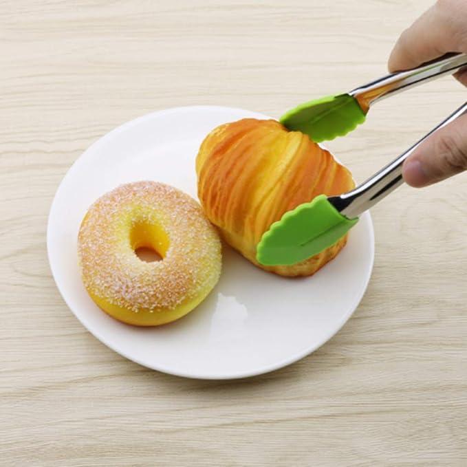 DDG EDMMS Cuisine Clip Alimentaire Professionnel en Acier Inoxydable Barbecue Pince en Silicone Buffet//Salade//p/âtisserie//Clip Fruit Couleur al/éatoire 18 cm