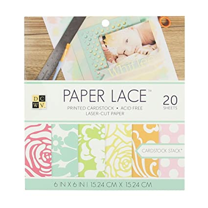 Amazon Com American Crafts Dcwv 6 X 6 Paper Lace Cardstock Stack