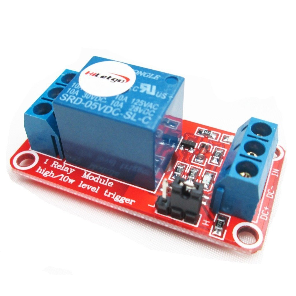 HiLetgo® 2pcs 5V 1 Channel Relay Module With OPTO Isolation Support High or Low Level Trigger