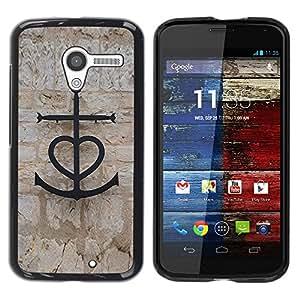 "Pulsar Snap-on Series Teléfono Carcasa Funda Case Caso para Motorola Moto X Motorola Moto X ( 1st Generation ) , Ancla Mar Amor Capitán San Valentín Pareja"""
