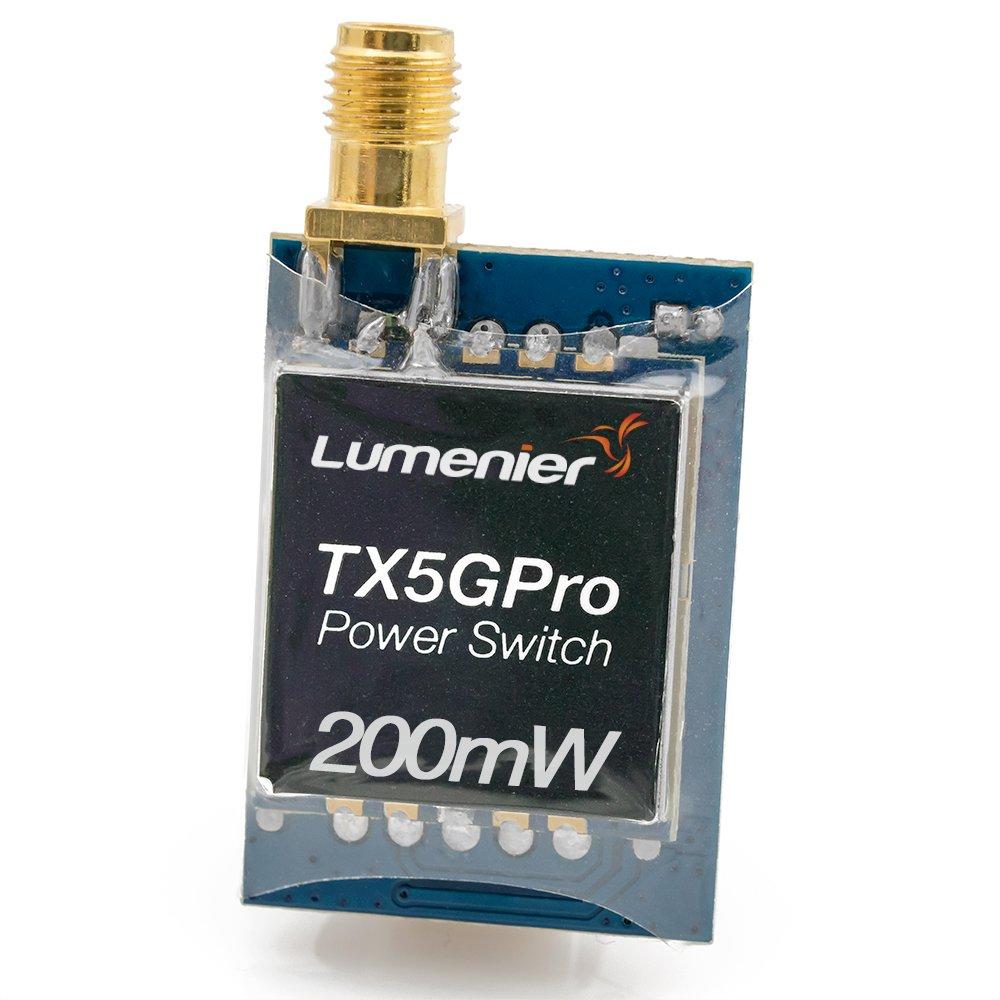 Lumenier TX5GPro Mini 200mW 5.8GHz FPV トランスミッター 電源スイッチ付き B07D9T92P5