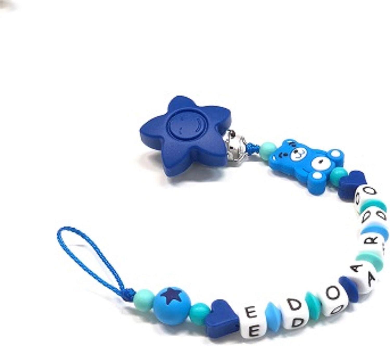 babyjart cadena para chupete con nombre personalizado: Amazon.es: Bebé