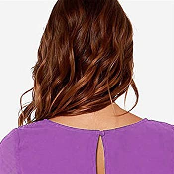 Tashioning Mujer Sólido O-Cuello Manga Larga Espalda Ahuecada ...