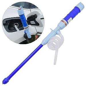 WEKON Bomba eléctrica de sifón, Sumergible, para líquidos, Funciona con Pilas (10 L/min de Potencia de Bombeo)