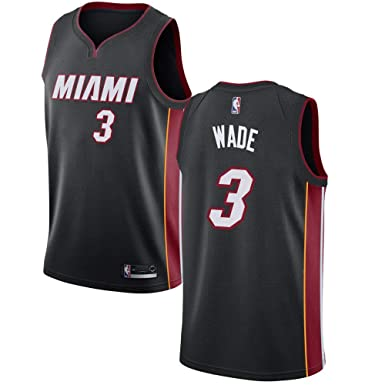 80a2fbdadcf Amazon.com: Miami Heat #3 Swingman Dwyane Wade Jersey Black Icon ...