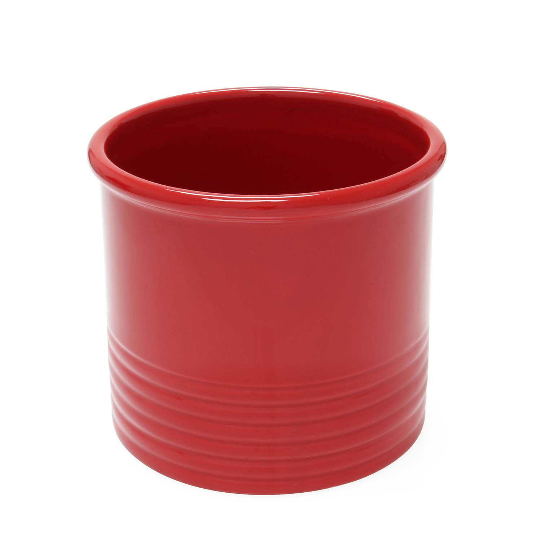 Chantal True Red Ceramic Large Utensil Crock by Chantal