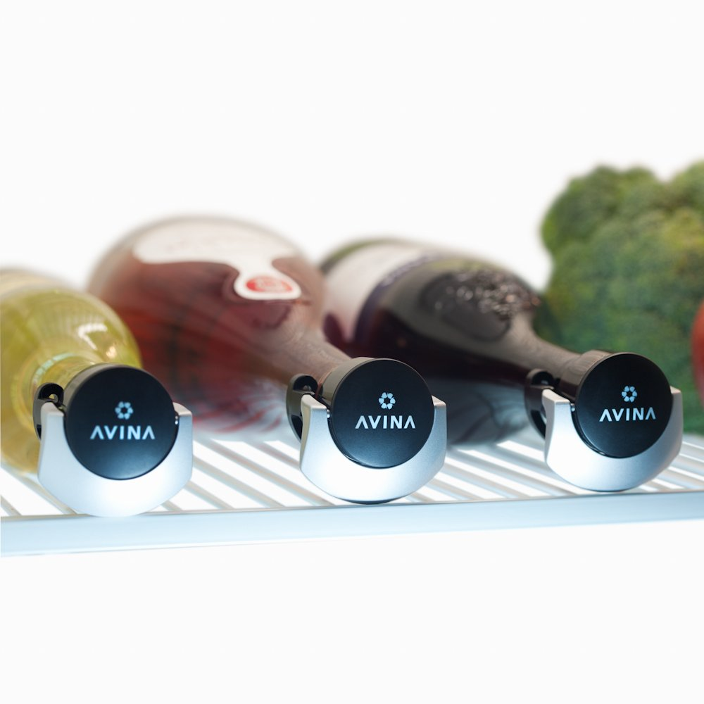 Wine Stoppers – No More Spills, Push and Lock Resealable Leak-Proof Wine Saver Seals Open Bottles For Safe Sideways Fridge Storage – Set of 3