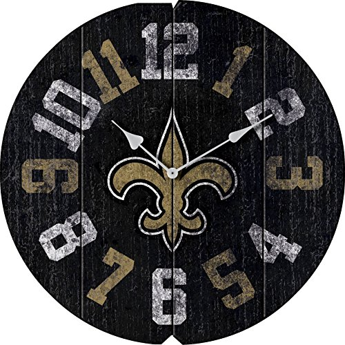Imperial Officially Licensed NFL Merchandise: Vintage Round Clock, New Orleans Saints