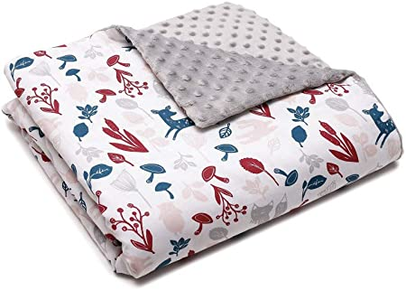 Manta para bebé, manta de forro polar, manta para gatear para bebés y niños, 100% algodón, fabricada en Europa animales