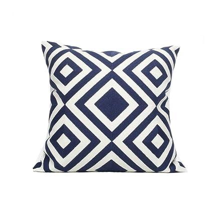 Amazon.com: F-yanyan cushions Simple Rhombic Cotton Cushion ...