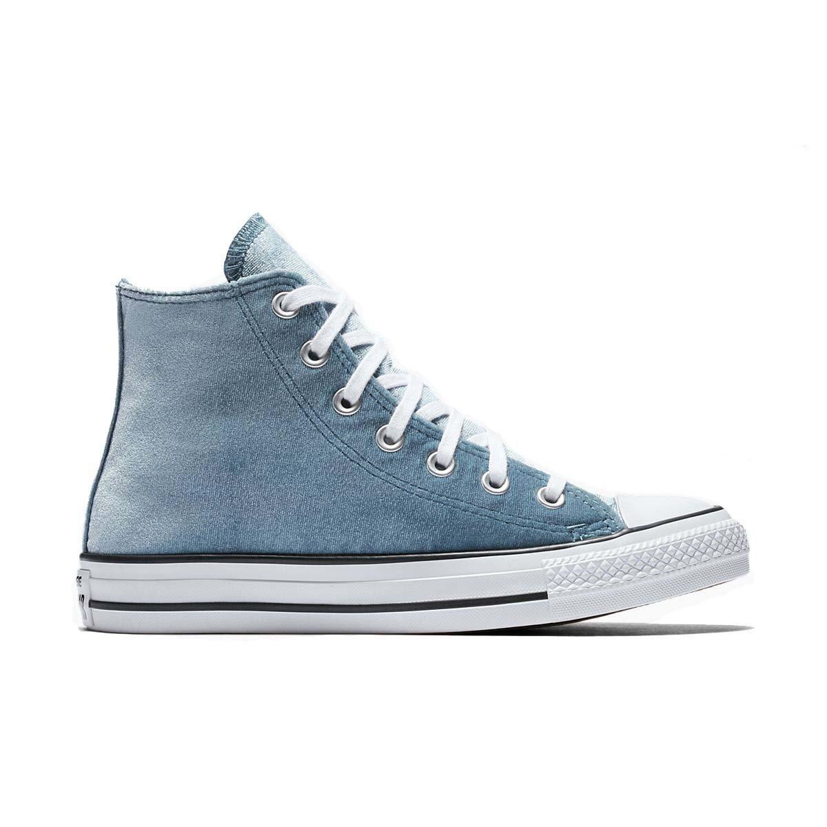 Converse CTAS Hi Femme, Bleu (Bleu SarcelleBlanc), 38 EU