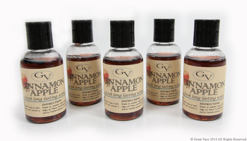 5 Pack Cinnamon Apple vacuum fragrance scents for Rainbow, Rainmate, Thermax, Hyla, & Humidifiers 2 fl oz by GV