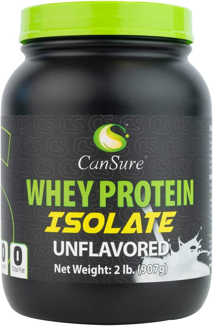 CanSure 100 Whey Protein Isolate Drink Shake Powder 2 Pounds