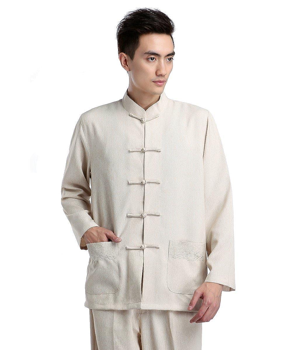 ZooBoo Traje tradicional chino para hombres beige beige XXXL ...