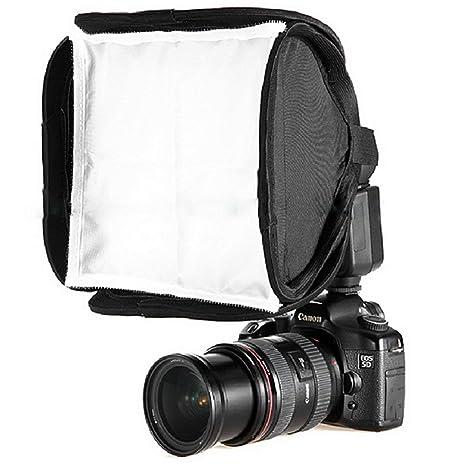 Lorenlli 23x23cm Mini Portable 9 Zoll Softbox Diffusor für Flash/Speedlite / Speedlight