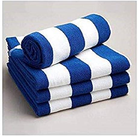 Casa D O Toallas de baño algodón Egipcio a Rayas de Color Blanco ...
