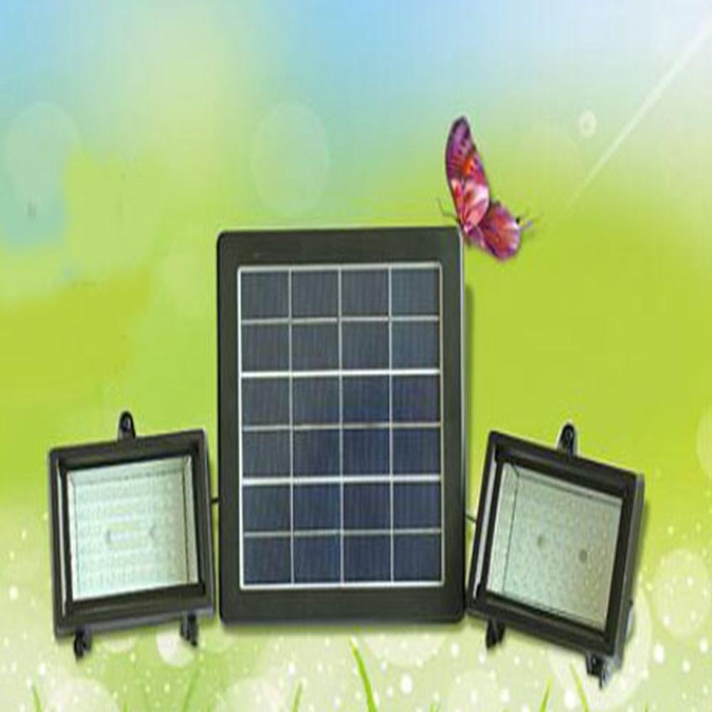 JIN Portable Solar Lamp Outdoor Wall Lamp Waterproof Super Bright 5Wled Lawn Lamp Home Garden Lamp Street Lamp