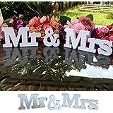 iShine Lettere Decorative per Matrimonio in Lengo Bianco Mr & Mrs per Matrimoni