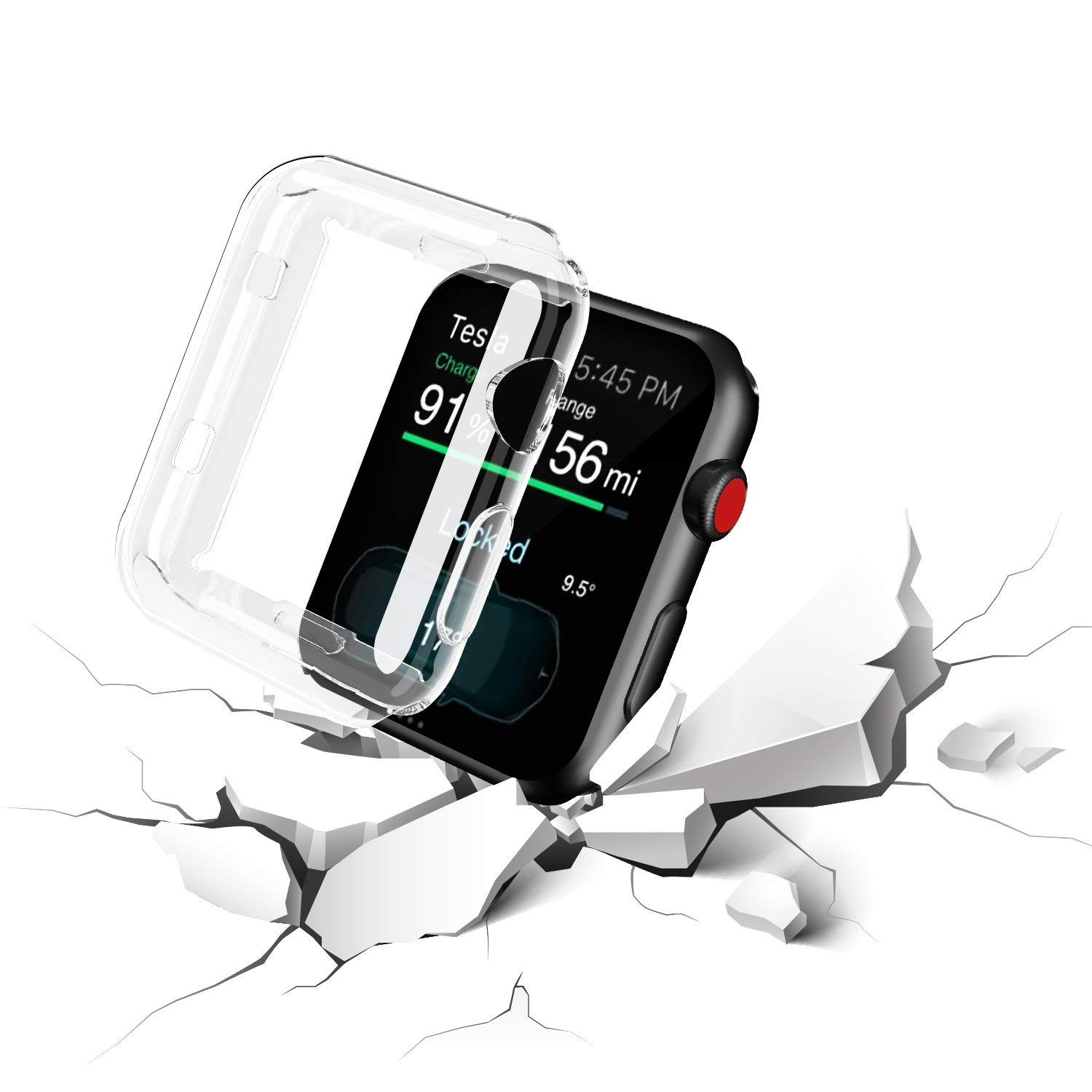 For Apple Watch Screen Protector 38mm | Soft TPU Iwatch Case | Full Cover Protection Ultra-Thin Clear Cover For Apple watch Series 3 2 by Kwartz (Image #4)