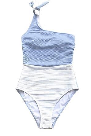62e9933b1e CUPSHE Women's Orange Crush One Shoulder Bowknot One-Piece Swimsuit ...
