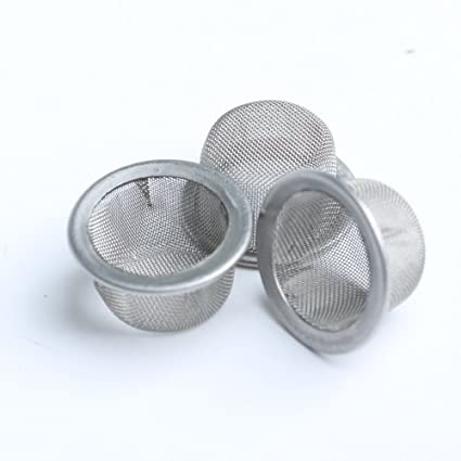 Yujianni 3pcs 0 5inch Diameter Crystal Smoking Pipe Stainless Steel Mental  Screen Filter for Crystal Quartz Tobacco Pipe Use