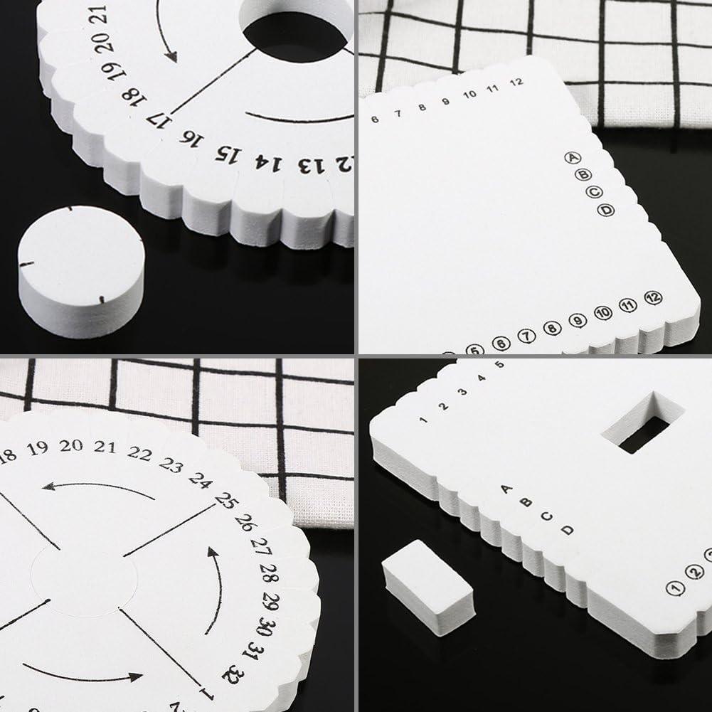 Disco per tessitura a mano con 2 corde di Kumihimo Disco Macrame intrecciato S