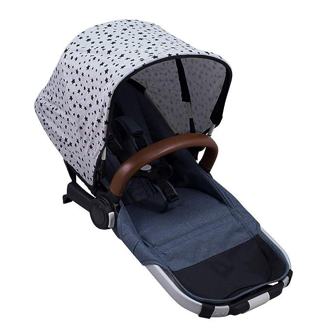JANABEBE Universal Hood Canopy for Baby Carriers Black Rayo
