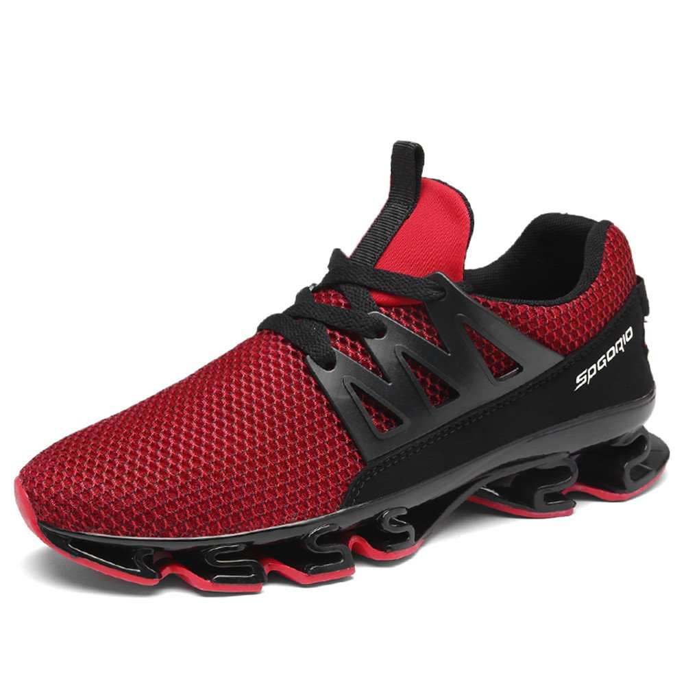 Noblespirit Men's Outdoor Sneakers Trail Running Hiking Jogging Shoes WSMHSTK10 Re42 Red