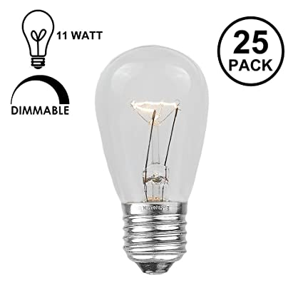 Novelty lights 25 pack s14 outdoor patio party replacement bulbs novelty lights 25 pack s14 outdoor patio party replacement bulbs clear e26 medium base mozeypictures Choice Image