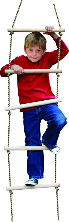 Outdoor Backyard Indoor Ninjaline Ladder Swing Set Playground Accessories Swing Ladder for Tree House Ninja Line letsgood 6.5ft Colorful Climbing Rope Ladder for Kids