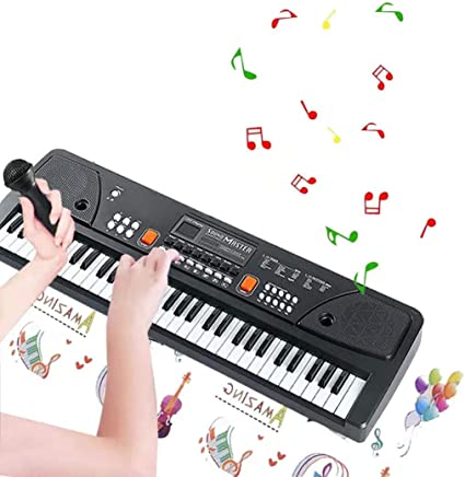 Elektrische Organ//Keyboard Musical Educational 61 Tasten mit Mikrofon für Kinder
