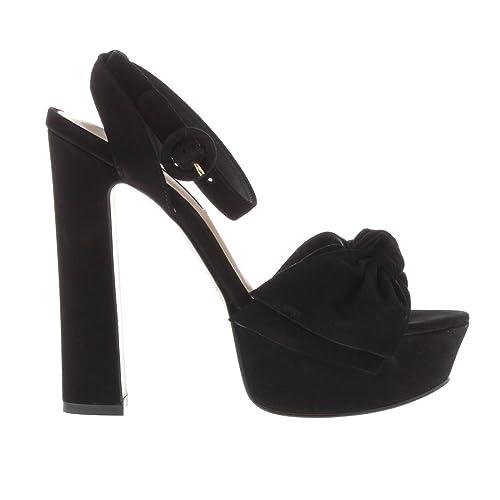 0b48dd533936 Steve Madden Womens Breena Platform Sandals Stiletto Heels Buckle Fastening  Black UK 4  Amazon.co.uk  Shoes   Bags