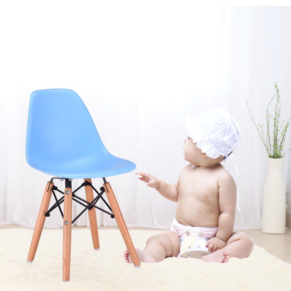 Amazon.com: costzon Kids Silla de comedor, moderna moldeado ...