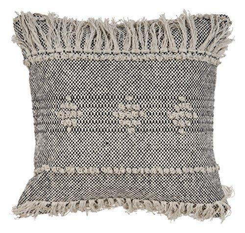 L.R. Resources PILLO07315BKNFFPL Zanthia Tribal Indoor Throw Pillow 20
