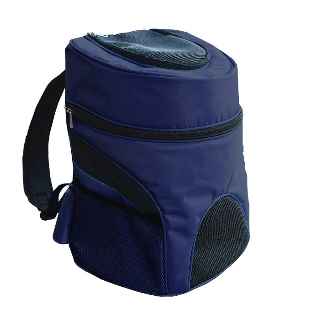 392745cm Navy Pet Backpack Cat and Dog Out Carrying Bag Large Dog Backpack Breathable Cat Dog Backpack Dog Travel Bag Sky bluee Navy
