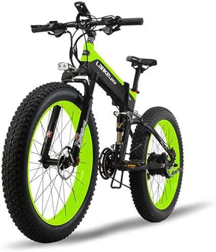 GTYW Bicicleta Eléctrica Grasa Neumático 26 Pulgadas Todo ...