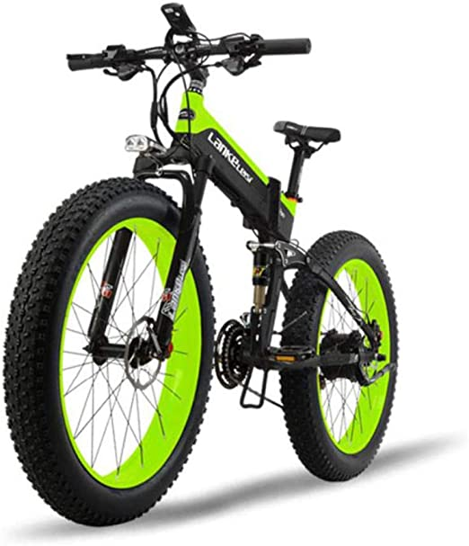 GTYW Bicicleta Eléctrica Grasa Neumático 26 Pulgadas Todo Terreno Plegable Eléctrica Nieve Bicicleta De Montaña 5 Engranaje Bicicleta Asistida Bicicleta 80-100KM,B-48V10ah: Amazon.es: Hogar