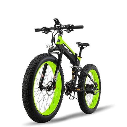 GTYW Bicicleta Eléctrica Grasa Neumático 26 Pulgadas Todo Terreno Plegable Eléctrica Nieve Bicicleta De Montaña 5
