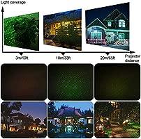 Noodei Luces solares de Navidad, luces solares, proyector, al aire ...
