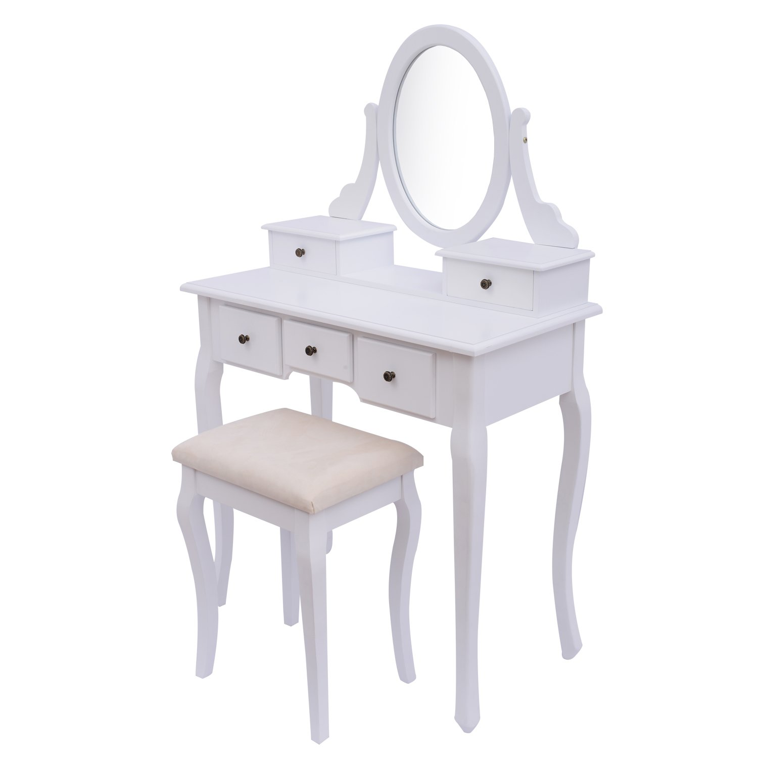 Clearance homcom antique style shabby chic dressing table with clearance homcom antique style shabby chic dressing table with vanity mirror stool white amazon garden outdoors geotapseo Images