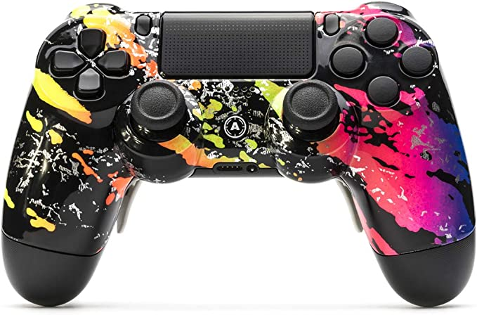 AimControllers Controlador PS4 Custom Wireless Controller, PlayStation 4 Gamepad Personalizado con 4 Palas, Camo Color [video game]: Amazon.es: Videojuegos