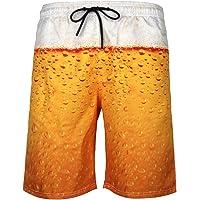 iYBUIA Men's Swim Trunks Funny 3D Print Graphic Drawstring Athletic Quick Dry Beach Quick Dry Short Pants
