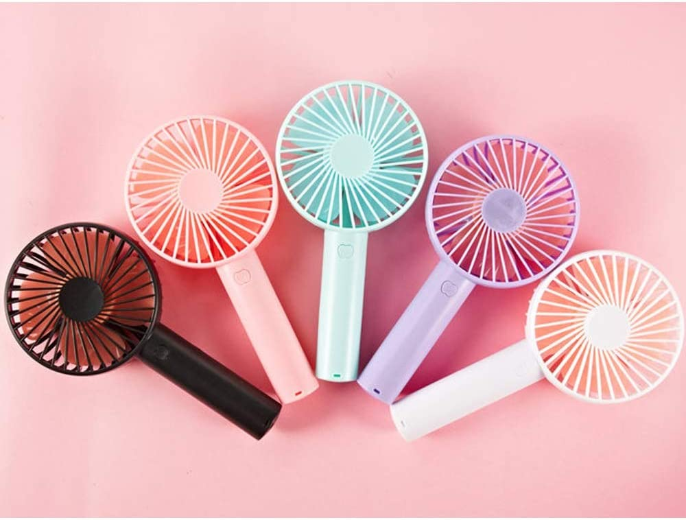 USB Rechargeable Handheld Small Electric Fan with Mobile Phone Bracket Bed Portable Out Mini Summer Shopping Handheld Fan Color : F BLWX