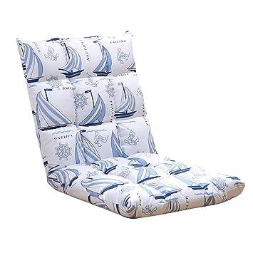 Silla De Meditación Lounge Sofá Sillón Sillón Cama Plegable Plegable Ajustable Tumbona Sleeper Futon Colchon Asiento