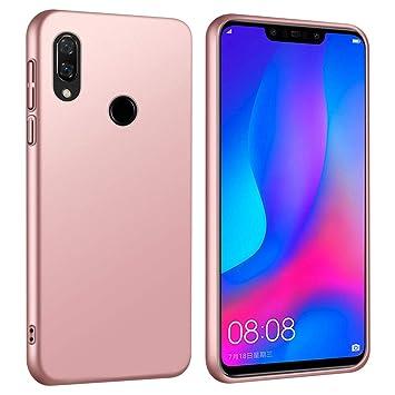 RIFFUE Funda Huawei P Smart Plus/P Smart+, Carcasa Duro Matte Delgada para Anti-Arañazos/Anti-Golpes/Anti-Huellas Dactilares Back Case Cover Espalda ...
